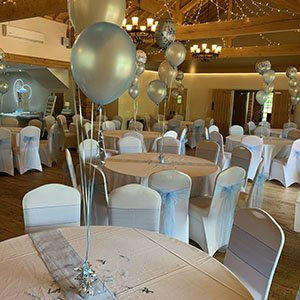 venue dressed for christening party