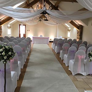 wedding venue dressed for ceremony